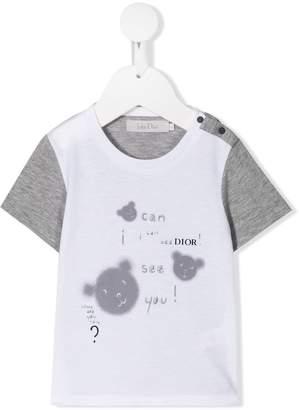 Christian Dior contrast sleeve printed T-shirt