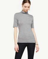 Ann Taylor Short Sleeve Turtleneck