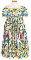 Dolce & Gabbana Girl's 'Majolica' Print Dress