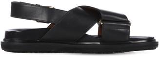 Marni 30mm Fussbett Leather Sandals