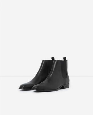 The Kooples Flat black leather chelsea boots