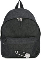 Versus safety pin backpack - men - Cotton/Leather - One Size