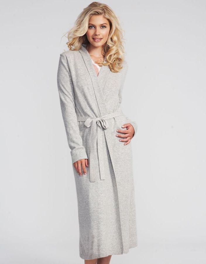Figleaves nightwear Cashmere Bliss Long Robe