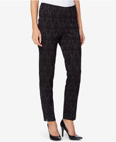 Catherine Malandrino Fele Brocade Straight-Leg Ankle Pants