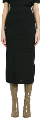 Fendi Ff Knit Skirt