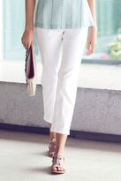 Next Womens White Parallel Cropped Jeans