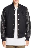 twenty tees Odell Beckham Jr. 13 x twenty Collection Leather Sleeve Varsity Jacket - 100% Bloomingdale's Exclusive