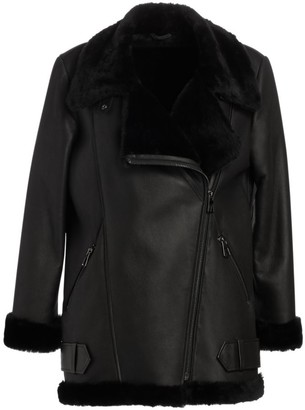 The Fur Salon Shearling Lamb & Nappa Leather Moto Jacket
