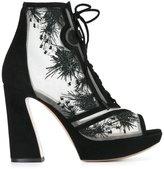 Nicholas Kirkwood 105mm 'Phoenix' lace-up booties - women - Leather/Suede/Nylon/Kid Leather - 37