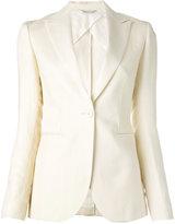 Tonello one button blazer - women - Cotton/Linen/Flax/Polyester/Virgin Wool - 40