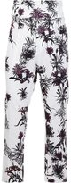 Ann Demeulemeester printed cropped trousers - men - Cotton/Elastodiene/Rayon - L