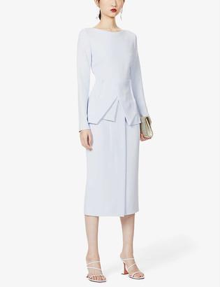 Roland Mouret Delphi draped crepe midi dress