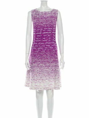 Oscar de la Renta 2015 Knee-Length Dress Purple