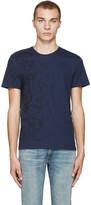 Alexander McQueen Navy Skulls & Lines T-Shirt