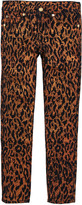 7 For All Mankind The Skinny' fit navy and copper leopard trousers