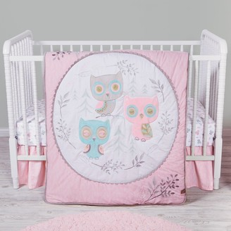 Trend Lab Feathered Friends Owls 3 Piece Crib Bedding Set