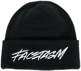 Facetasm logo embroidered beanie - unisex - Cotton/Acrylic/Polyester/Polyurethane - One Size