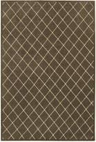"Oriental Weavers Ellerson Diamond Brown 9'10"" x 12'10"" Area Rug"