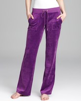 Juicy Couture Bootcut Pants - Velour Bling