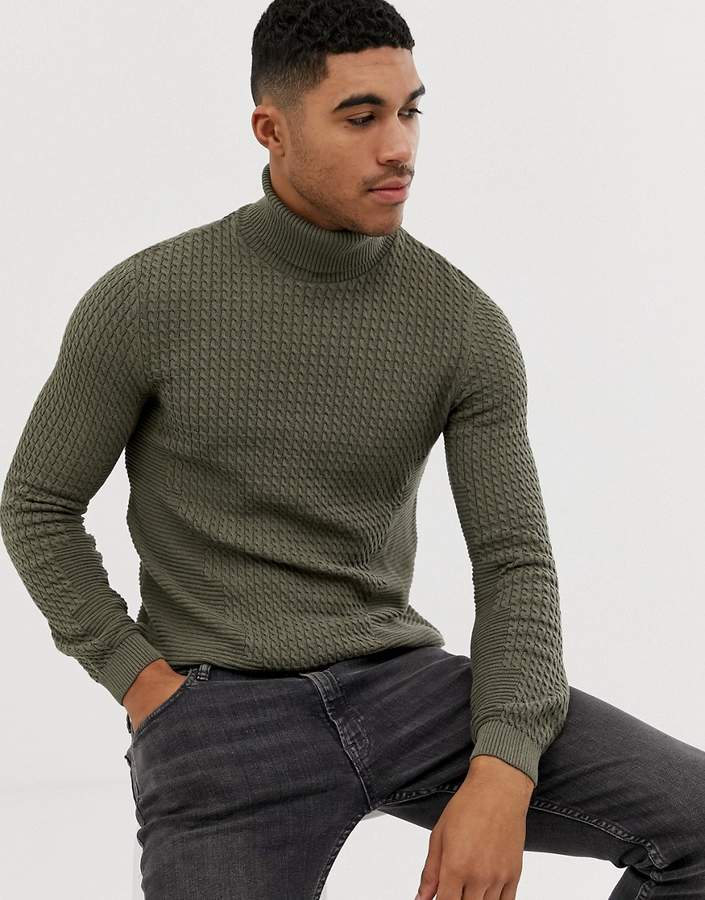 57f22eb6e0c8a9 Mens Green Jumper - ShopStyle UK