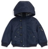Burberry 'Mini Barkston' Hooded Bomber Jacket (Baby Boys)