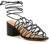 Steve Madden Illie Tie Up Metallic Block Heel Dress Sandals