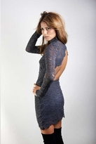 Nightcap Clothing Victorian Lace Dress in Ash