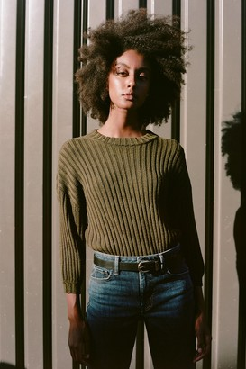 Velvet by Graham & Spencer Kyana Engineered Stitches Crew Neck Sweater