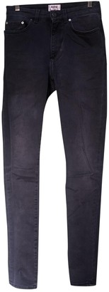 Acne Studios Anthracite Cotton Jeans for Women