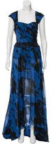 Peter Som Printed High-Low Dress