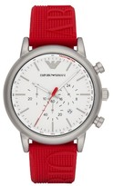 Emporio Armani Chronograph Silicone Strap Watch, 32Mm