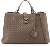 Bottega Veneta Milano Woven Leather Tote Bag, Espresso