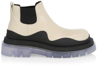Bottega Veneta Tire Lug-Sole Leather Chelsea Boots