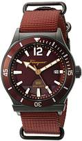 Salvatore Ferragamo Men's FF3220015 1898 Sport Analog Display Quartz Rust Watch
