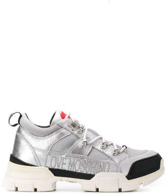 Love Moschino logo print sneakers