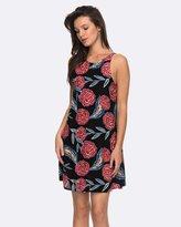 Roxy Womens Sunburnt Land High Neck Strappy Dress