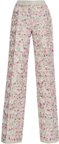 Luisa Beccaria Linen Embroidered Pants