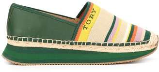 Tory Burch Woven Striped Espadrilles