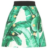 Dolce & Gabbana Printed Cotton And Silk Jacquard Miniskirt