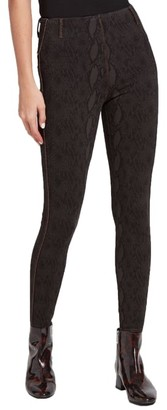 Lysse Medium Control Aces Knit Denim Leggings