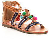 Steve Madden Girls' J-Cailin Tasseled Pom Pom Sandals