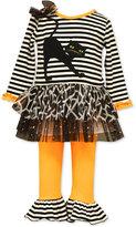 Bonnie Baby Baby Girls' 2-Pc. Halloween Cat Tunic & Leggings Set