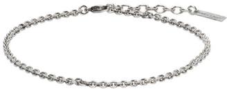 Saint Laurent Silver Logo Plaque Bracelet