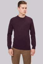 Moss Bros Dark Cherry Crew Neck Jumper