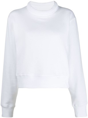 Maison Margiela cropped high neck sweatshirt