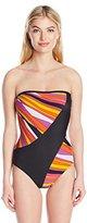Trina Turk Women's Sunburst Bandeau One Piece Swimsuit