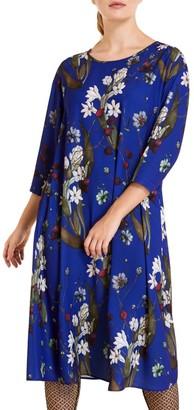 Marina Rinaldi, Plus Size Danubio Cady Printed Dress