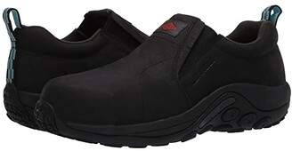 Merrell Work Jungle Moc Leather Composite Toe (Black) Women's Shoes
