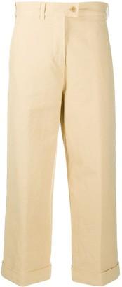 Aspesi Straight-Leg Cropped Trousers