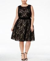 Xscape Evenings Plus Size Lace Fit & Flare Dress